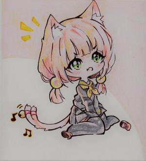 Chibi Neko Girl [Colored Version]