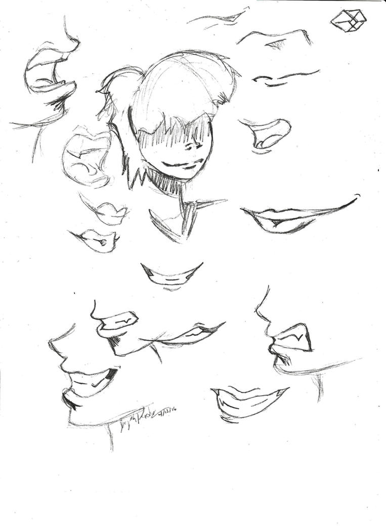 Mouth Sketches by stuPendas