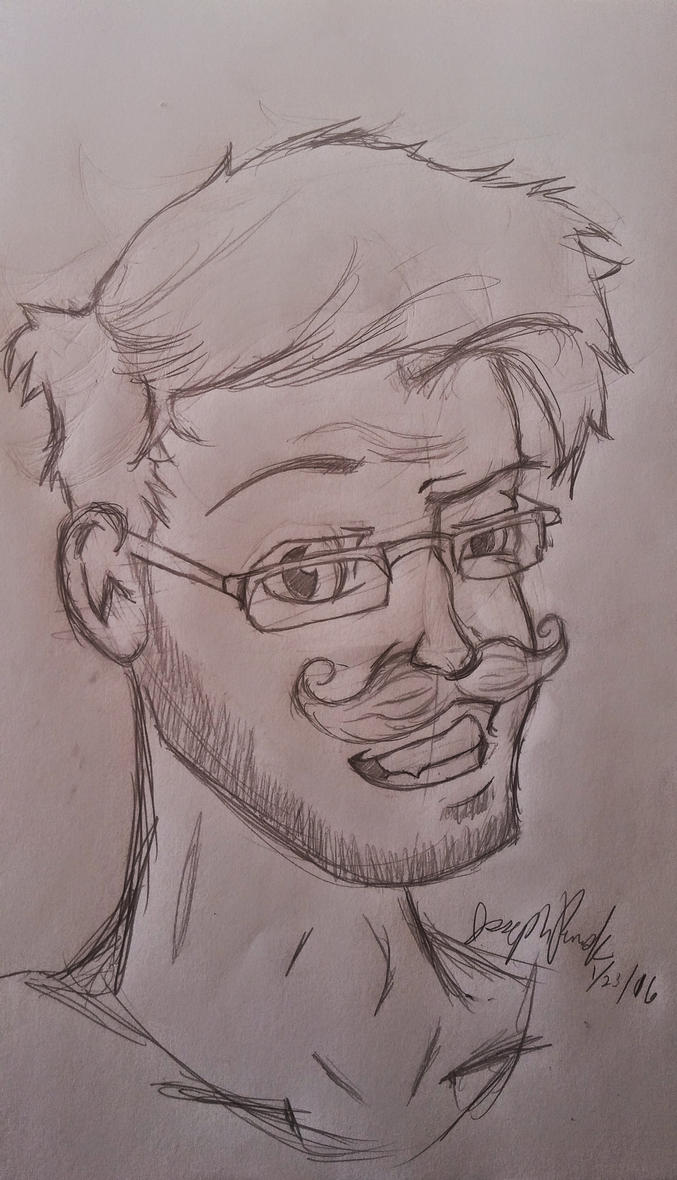 Markiplier WIP (not colored/not inked)  by stuPendas