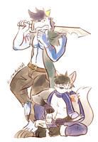 Fox and dragon by Vent-Kazemaru