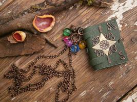 World Traveler's mini Book Necklace by twistedjewelry