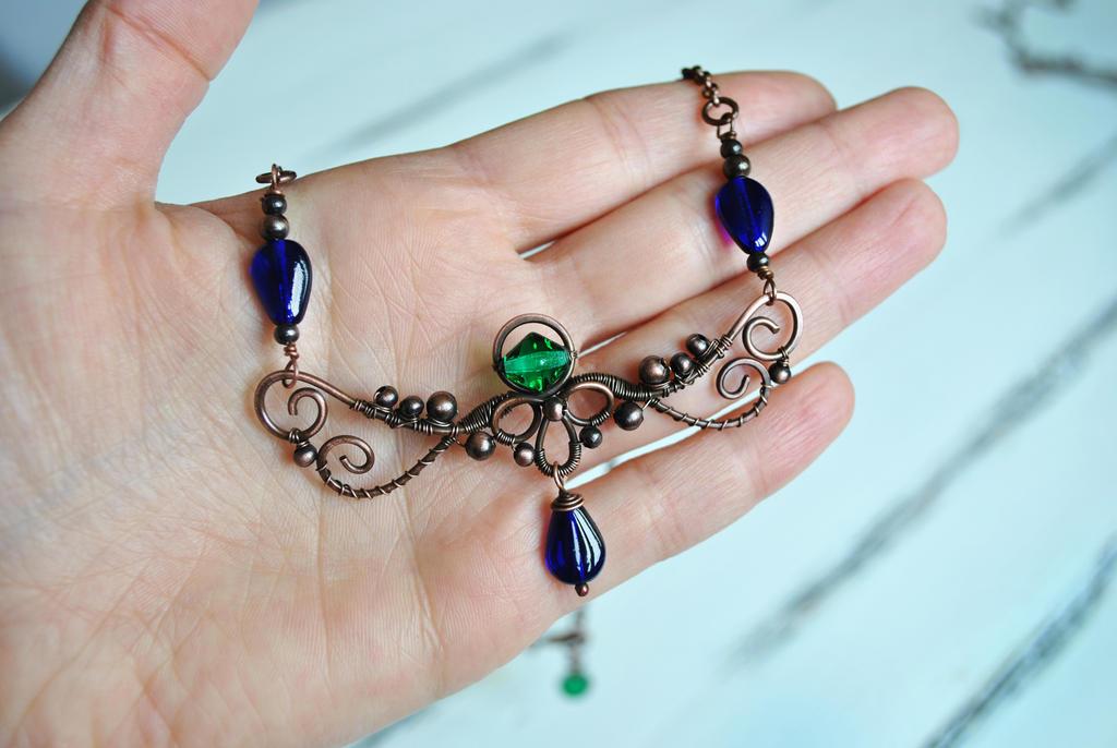 Copper Necklace by twistedjewelry