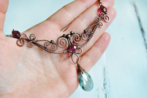 Crystal Necklace by twistedjewelry