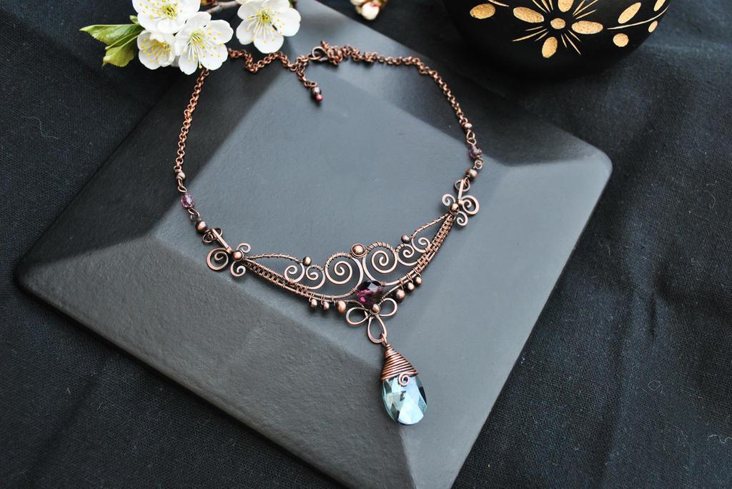 Crystal Necklace II by twistedjewelry