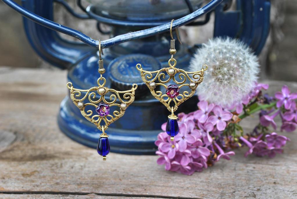 Brass Earrings by twistedjewelry