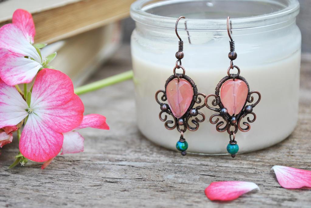 Copper Earrings by twistedjewelry