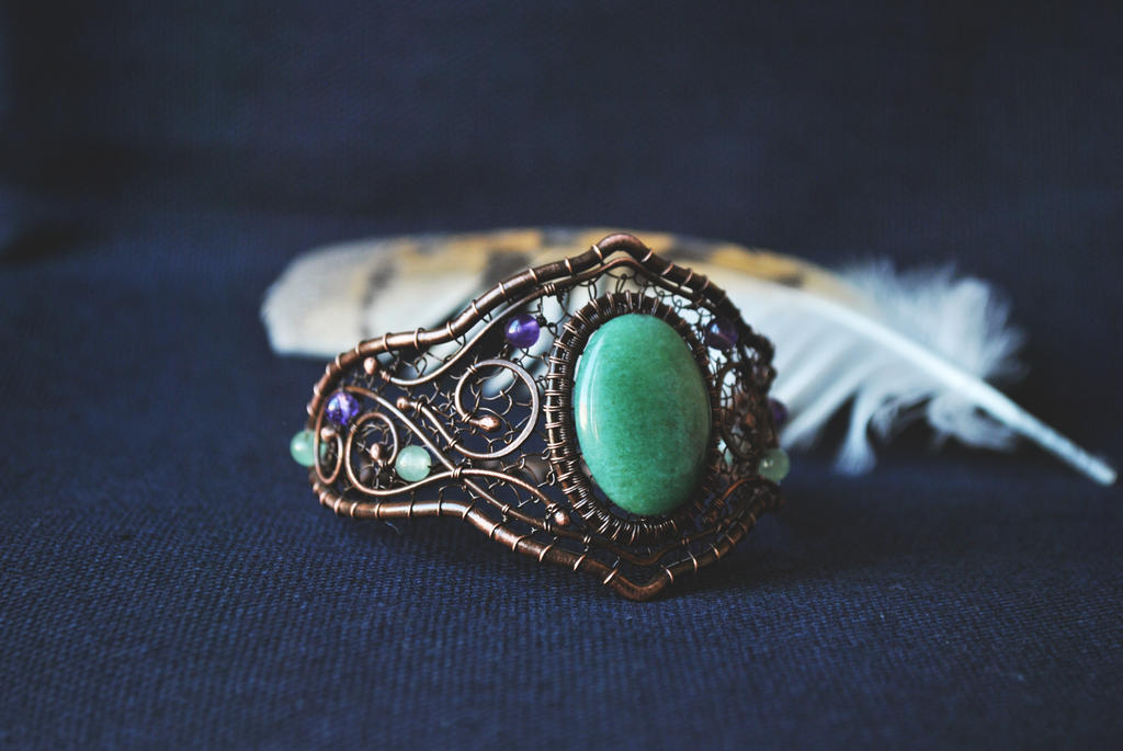 Copper Cuff by twistedjewelry