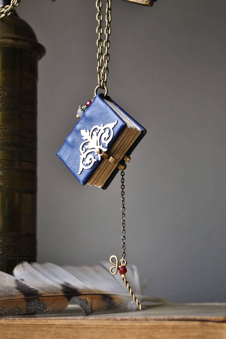 miniature Book Necklace by twistedjewelry