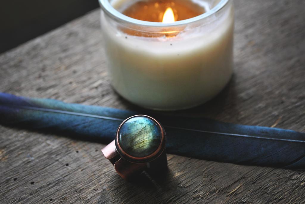 Labradorite Ring by twistedjewelry