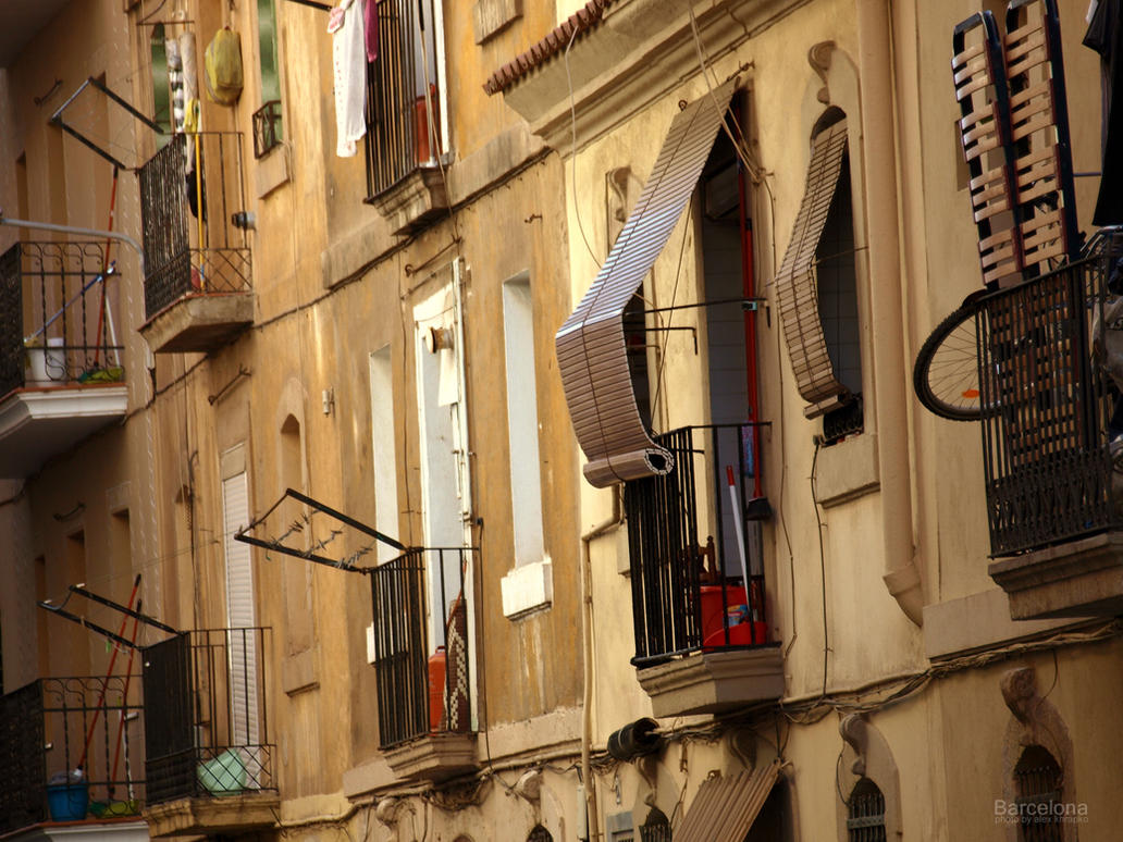Spanish balconies by oilart on deviantart for Balcony in spanish