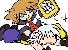 riku and sora by cyber-hiatus