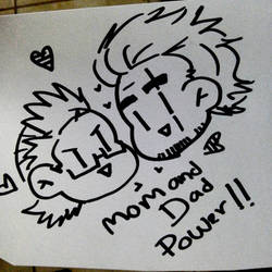 Mom and Dad power!! doodles by narumitsulawyer