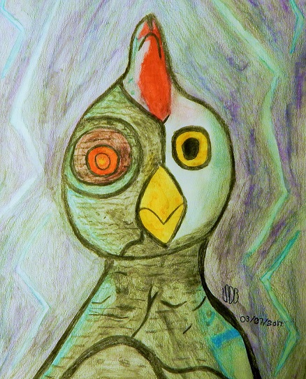 Water Color Robot Chicken by WowLovely88