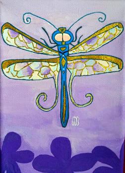 Blue N Gold Dragonfly