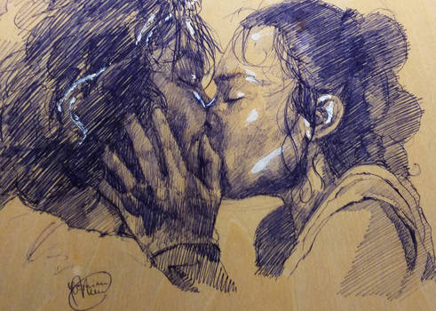 Ben and Rey kiss