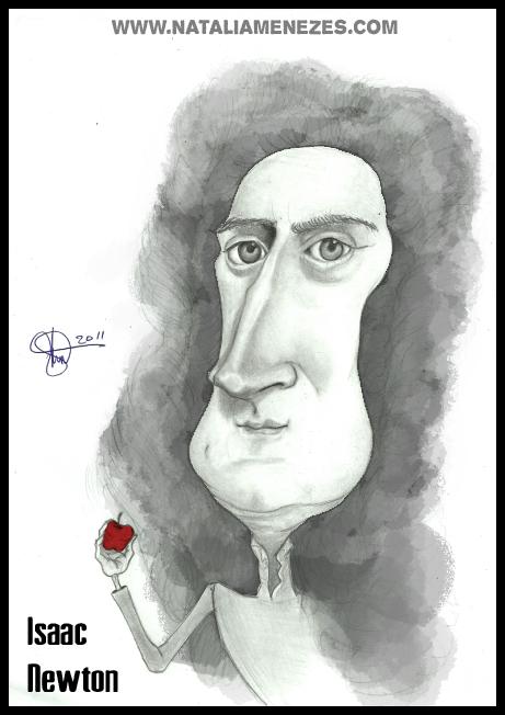 Caricatura Isaac Newton By Natmortensen On Deviantart