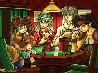 Dogs Playing Poker by ladybattousai