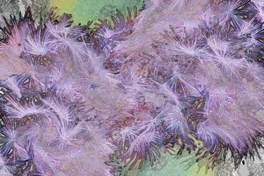 Violet Splash Grunge Texture