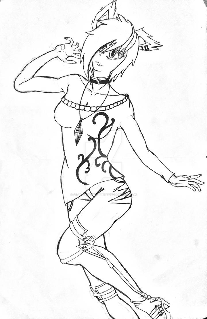 Amy Kosani (BW Manga Edition) by CromeTheHedgepire