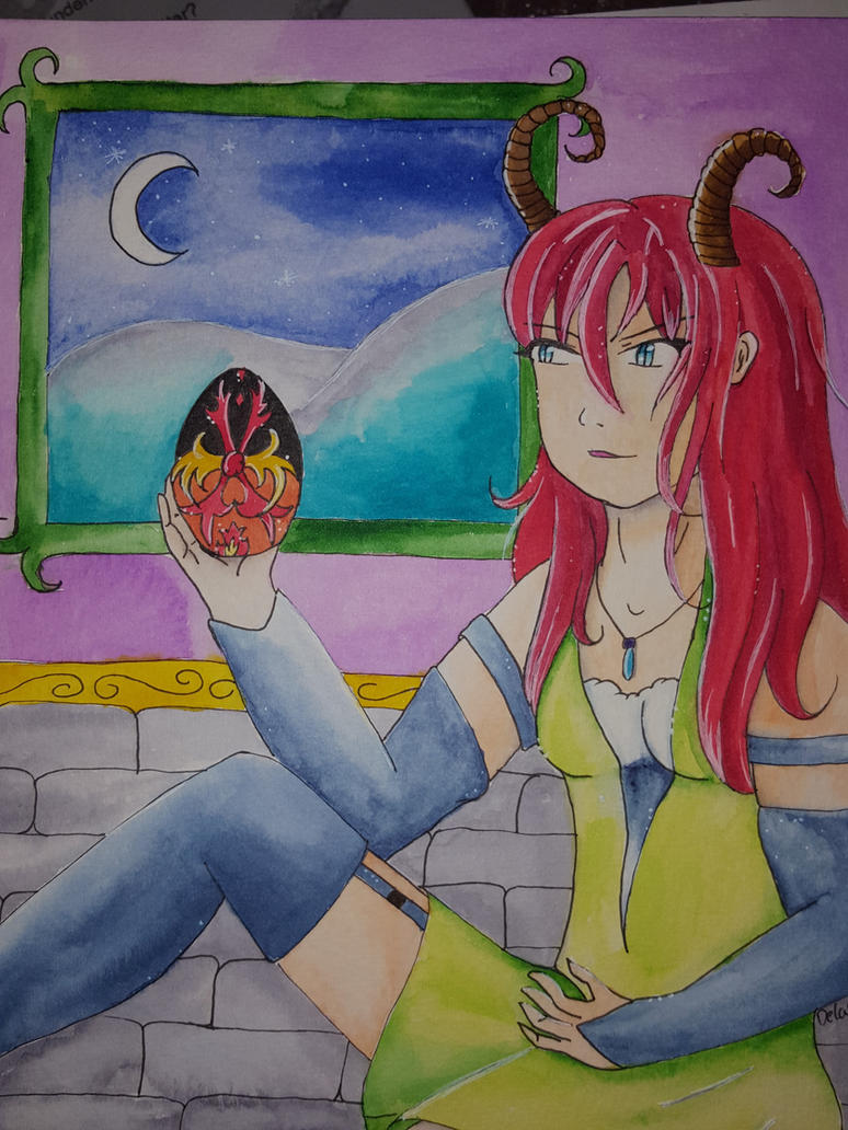 Little Devil and her Egg =) by Delasera