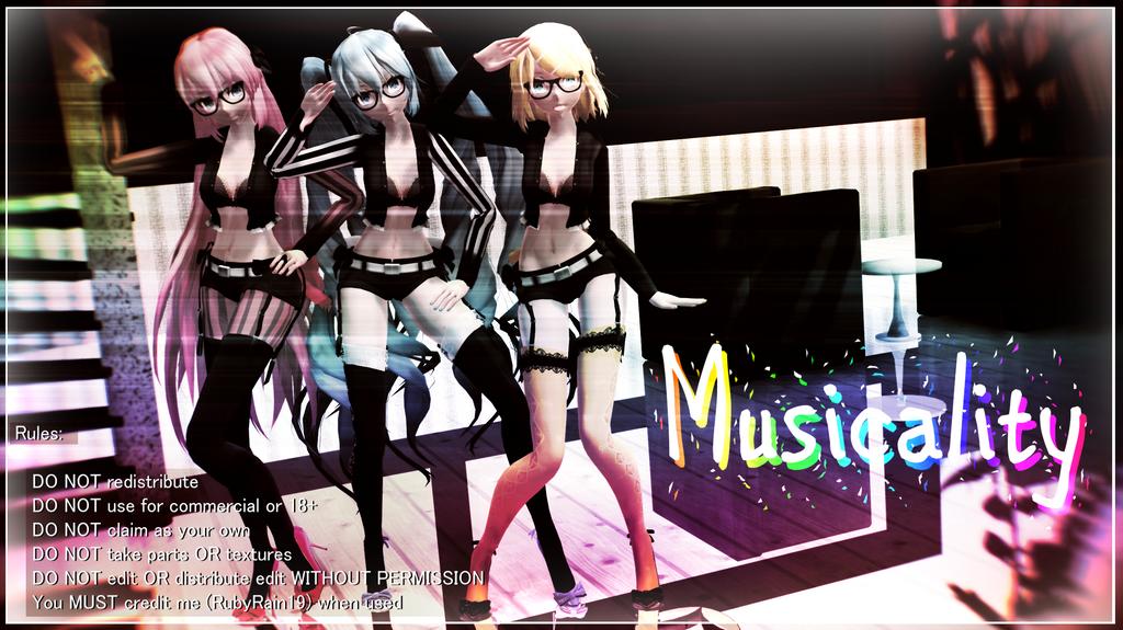 [MMD] Musicality Series Pack (Miku Luka Rin) by RubyRain19