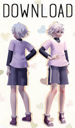 [MMD HXH] TDA Killua Model DL by RubyRain19