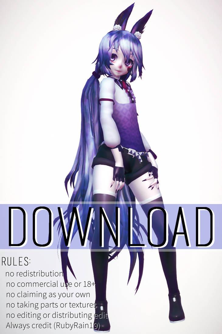 [MMD x FNAF SL] TDA Bonbon Model download by RubyRain19