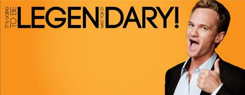 Barney Stinson Legendary Facebook cover by blurokr