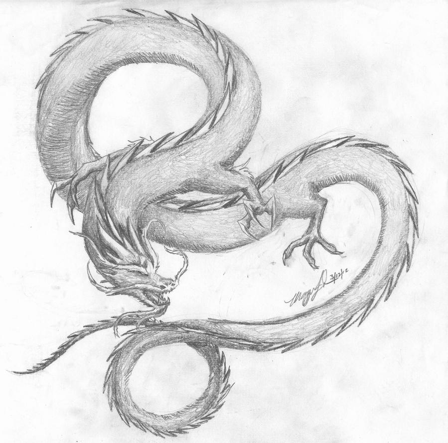 chinese dragon drawing easy - photo #32