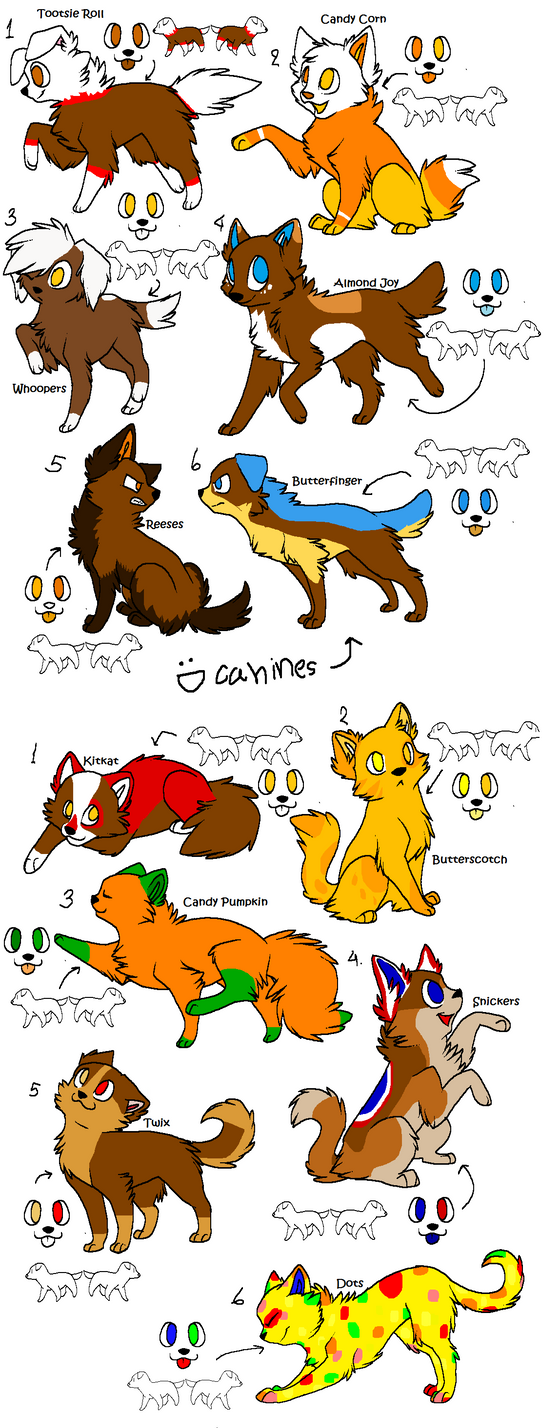 Candy Adoptables (1 point) by Dominothekittycat
