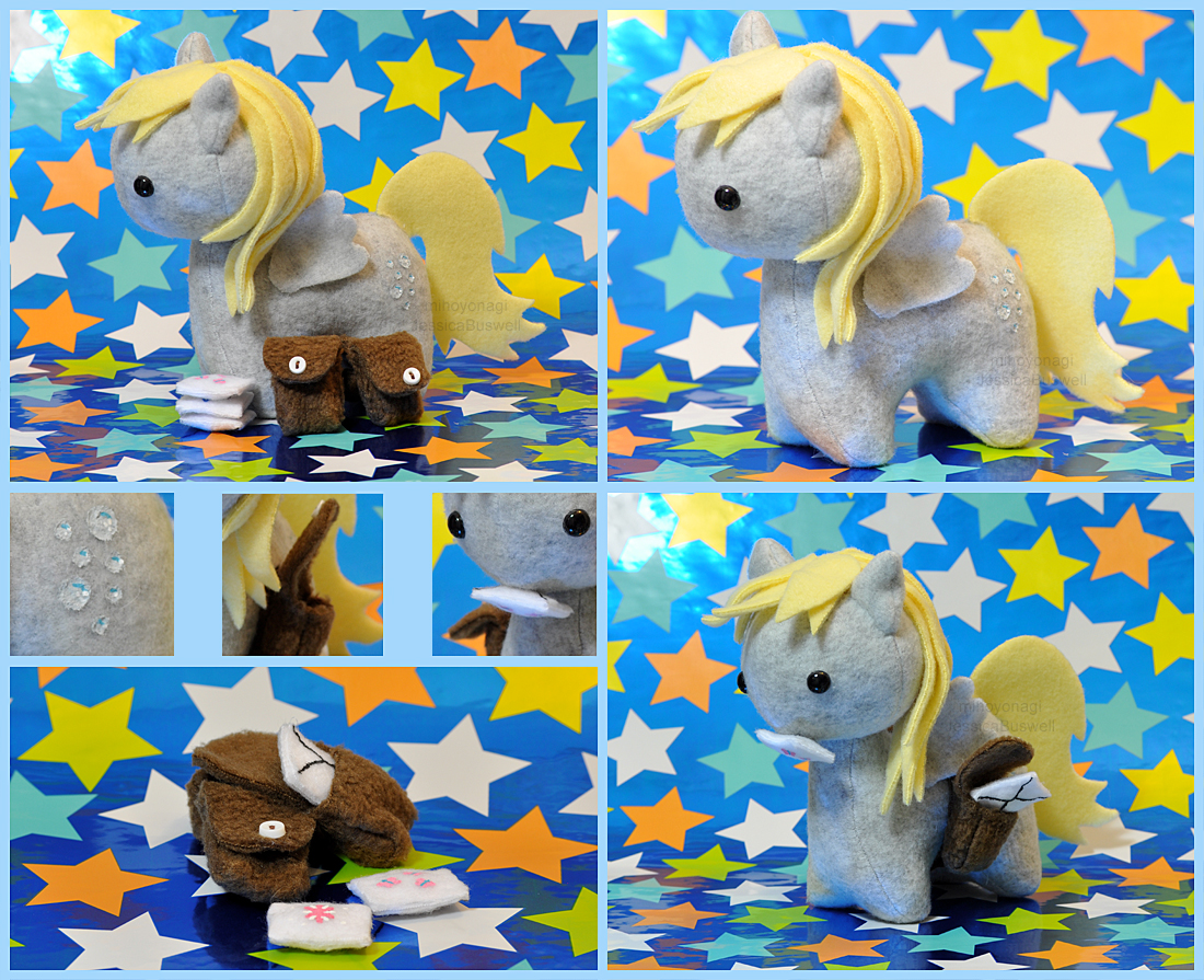MLP - Itsy-Pony Derpy Hooves Plush Collage by mihoyonagi