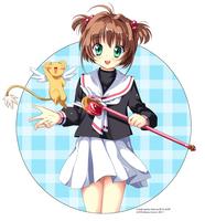 Sakura and Keroberos by stereo-mono