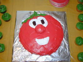 Bob the Tomato Birthday cake by AchooMooMoo