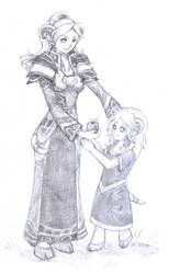 Adoneiras and her Mother by Raimu