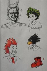 My Hero quick doodles by dsagoa