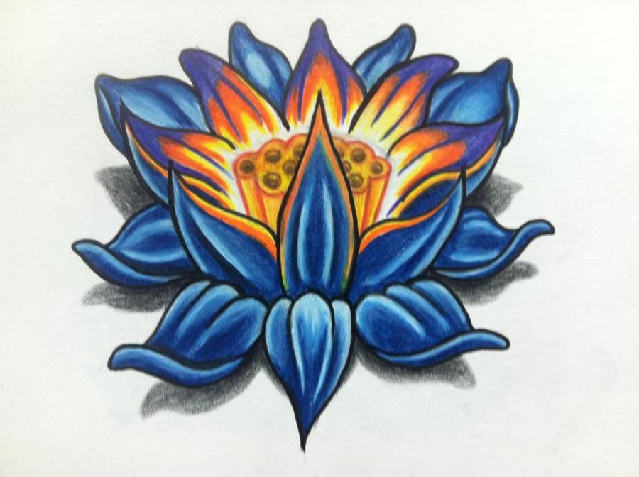 lotus tattoo design by clearfishink on DeviantArt