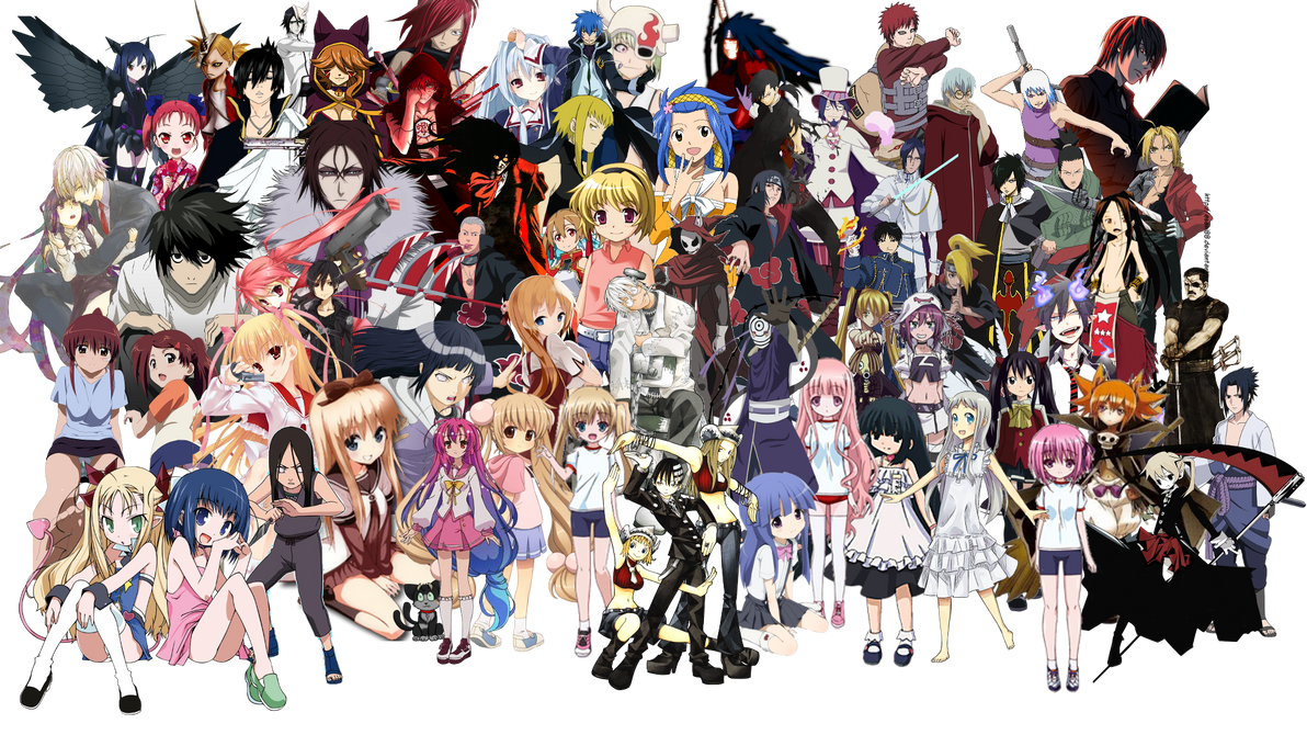 Anime Characters Png : My favourite anime characters by shadonflamess on deviantart
