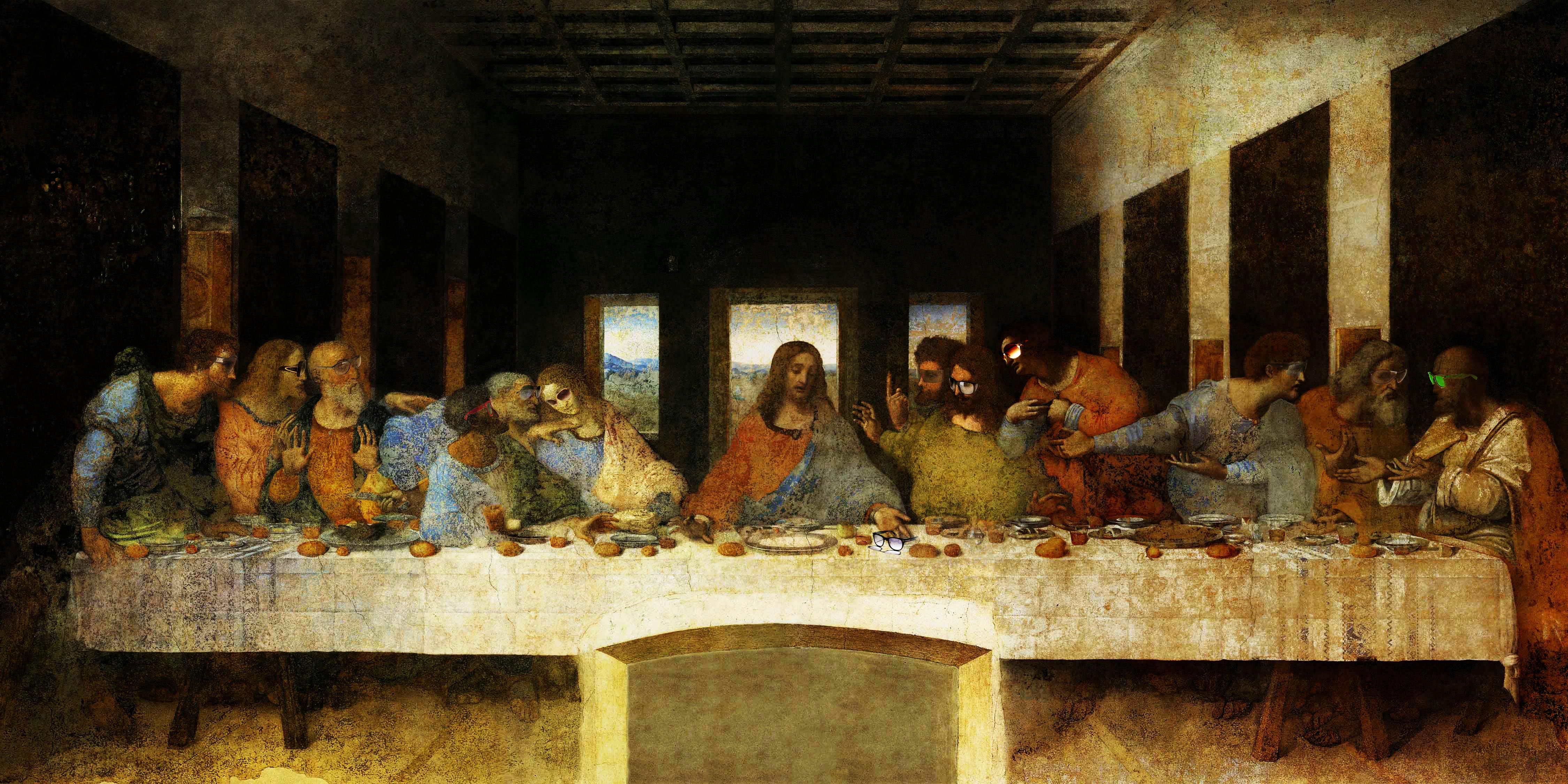 last-supper da-vinci sunglass by RaptorRamses on DeviantArt Da Vinci Last Supper High Resolution