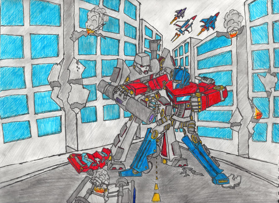 Prime and Megatron by BitterComedy
