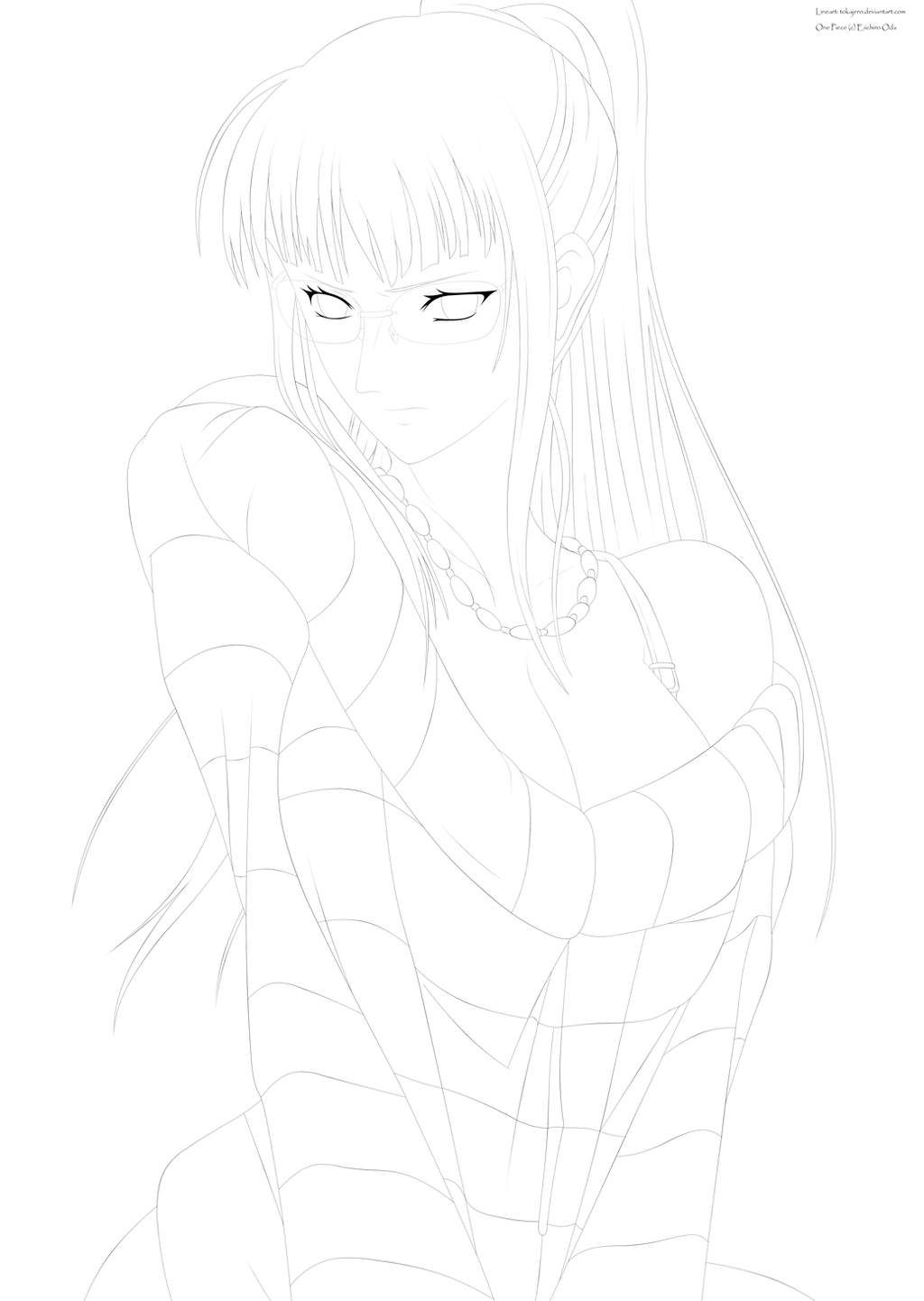 One Piece Lineart : One piece lineart nico robin by tokajero on deviantart