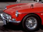 little red british car