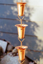 copper drain chain
