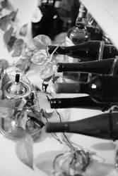 Wine with houseplant vine