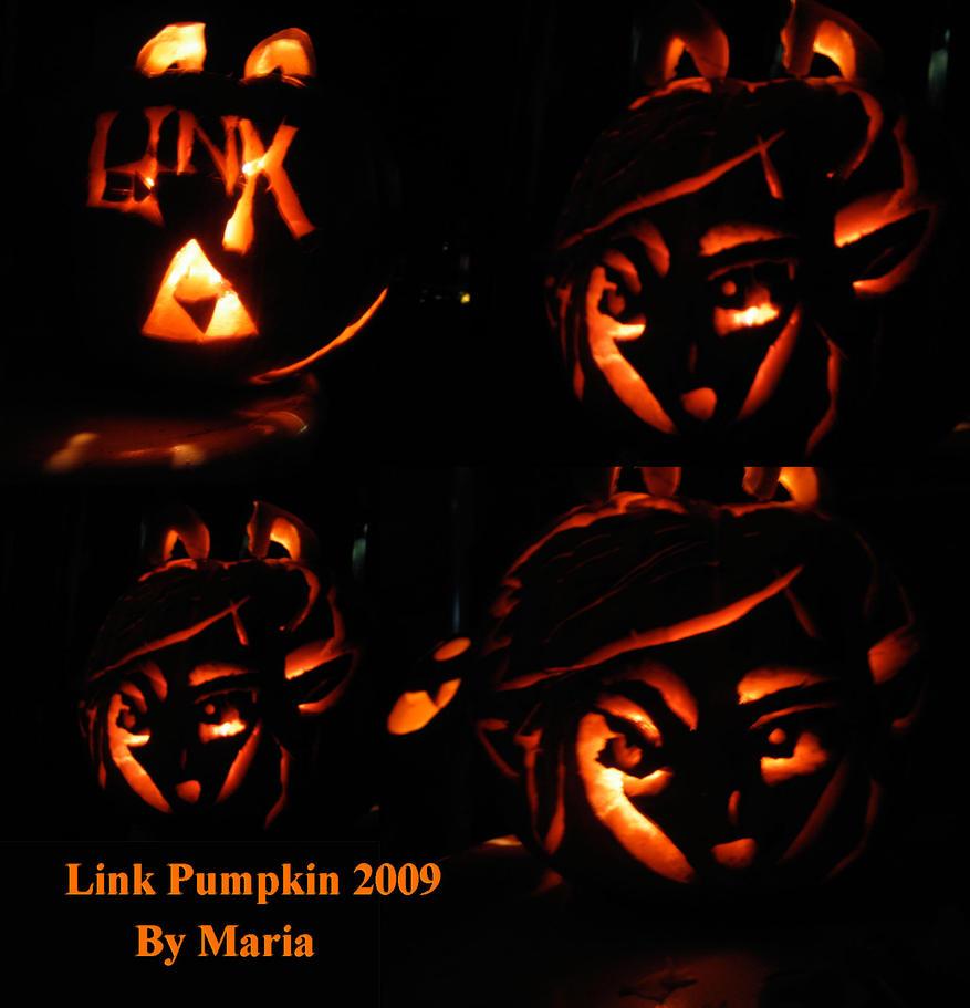 Neko WW Link Zelda pumpkin 2 by Zeldagirl86