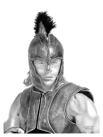 The gallery for --> Achilles Greek Warrior Drawing