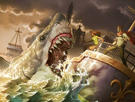 Giant Shark Attack by GunshipRevolution
