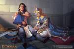 Kyra heals Valeros