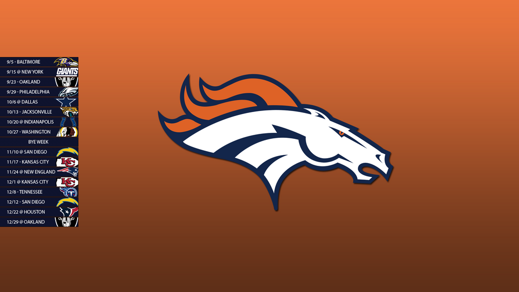 denver broncos 2013 schedule wallpaper by sevenwithat on