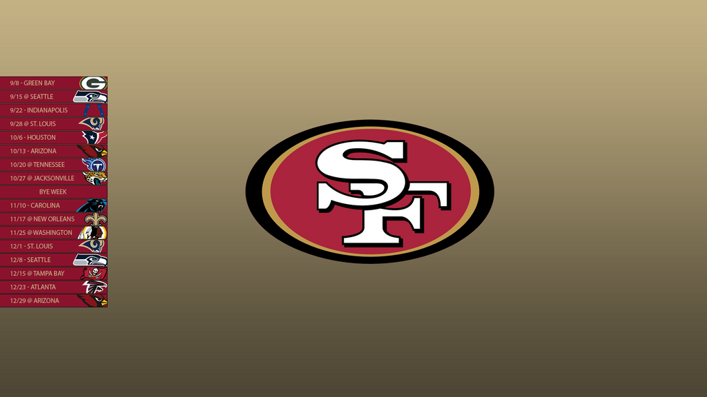 San francisco 49ers 2013 schedule wallpaper by sevenwithat - 2015 49ers schedule wallpaper ...