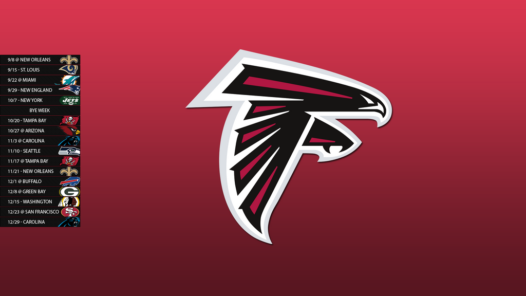 Atlanta Falcon Wallpapers Group 60: Atlanta Falcons 2013 Schedule Wallpaper By SevenwithaT On